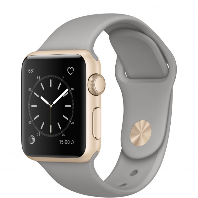 Apple Watch Series 2 38mm Gold Aluminum Case with Concrete Sport Band (MNP22)