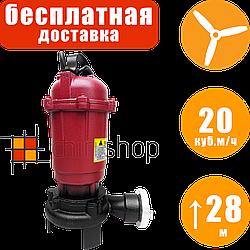 Фекальный насос с измельчителем Onex OX-7785 20 куб.м/ч, дренажный насос с режущим механизмом для выгребных ям
