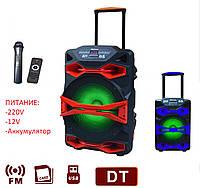 Акумуляторная колонка с микрофоном AIL-1218AK-DT 150W (FM/USB/Bluetooth), фото 1