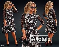 Женское модное платье  ДВ929 (бат), фото 1