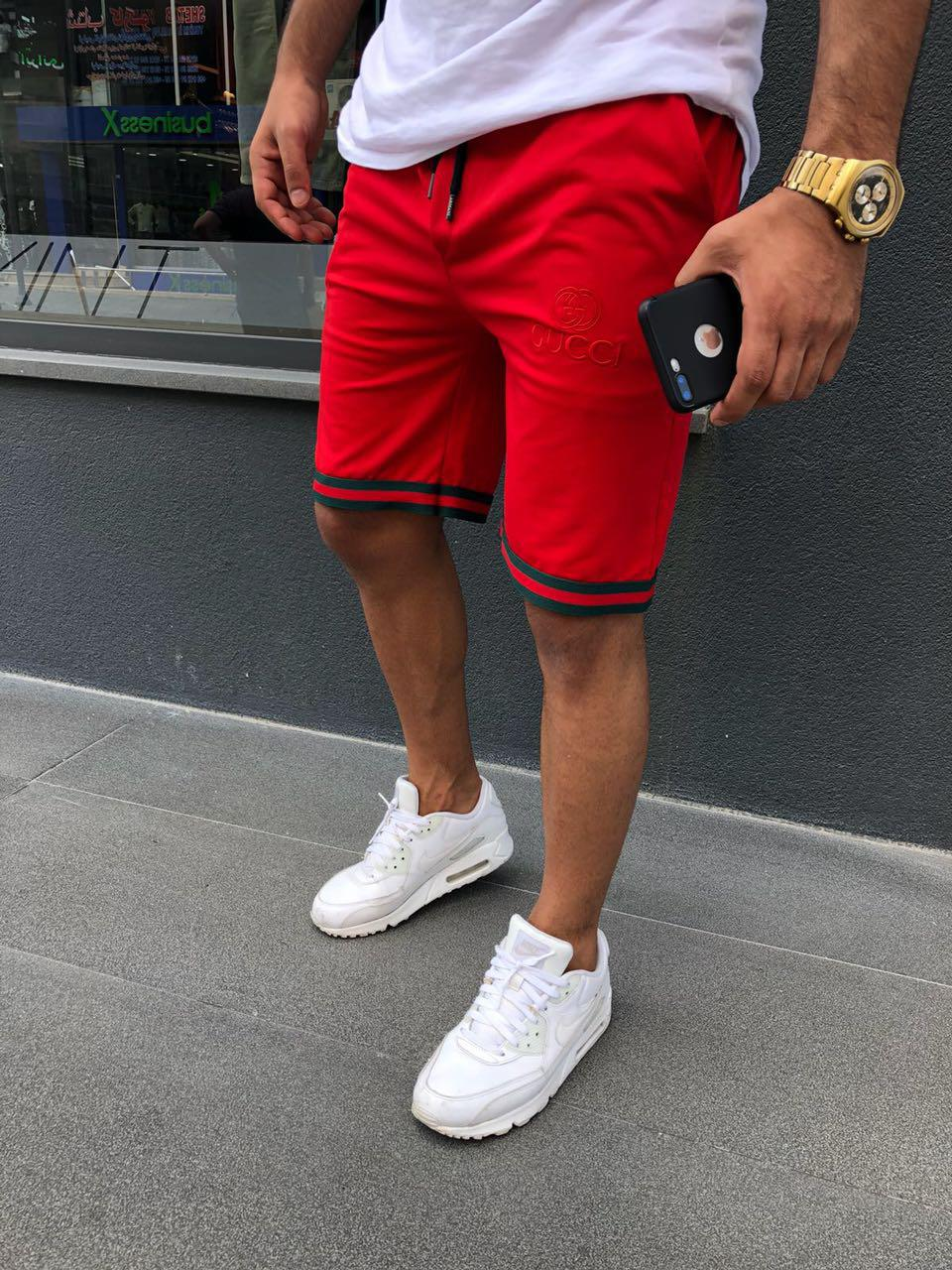 Бриджи мужские Gucci D4031 красные
