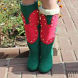 Сапоги кашемир на подкладке, на низком ходу. Много цветов. Размеры: 36-42,  код 4113О, фото 9