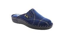 Стильные тапочки, современная домашняя обувь Spesita Синий текстиль(36-41)