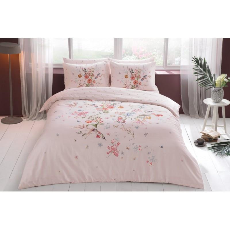 Постельное белье Tac сатин - Martha pembe розовый полуторное