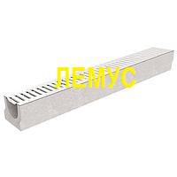 Комплект: Лоток  бетонный H125 с оцинкованной решеткой