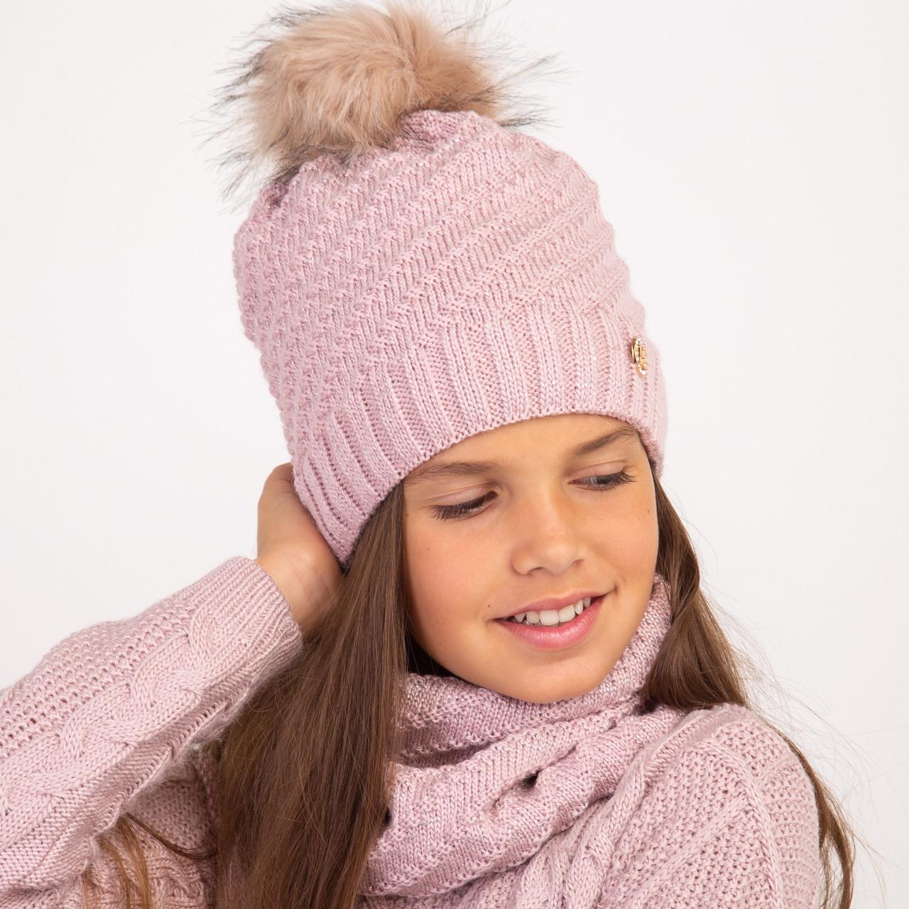 Зимний комплект с помпоном для девочки - Артикул 2332