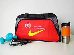Сумка спортивная текстильная с плечевым ремнем 49*30*19 см, фото 2