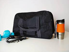 Сумка спортивная текстильная с плечевым ремнем 49*30*19 см, фото 3
