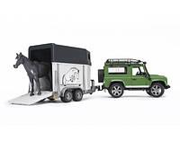 Джип BRUDER Land Rover Defender с прицепом и лошадкой, М1:16 02592