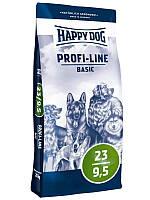 Cухой корм Happy Dog Profi-Line Basic 23/9,5  для собак с мясом птицы 20 кг.