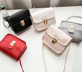 Женская сумочка на плечо 5 цветов Италия качество
