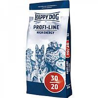 Cухой корм Happy Dog Profi-Line High Energy 30/20  для собак с мясом птицы 20 кг.