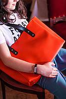Большая сумка женская из эко-кожи морковная PHI1_BL_MR