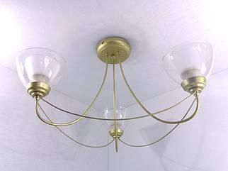 Люстра стельова на 3 лампочки 33026/3 Золото 32х52х52 див.