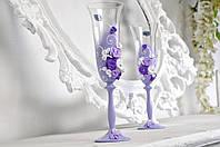 Свадебные украшенные бокалы №403