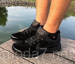 Кроссовки мужские черные Nike Air Presto нат. замша реплика, фото 2