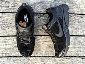 Кроссовки мужские черные Nike Air Presto нат. замша реплика, фото 3
