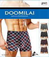 Мужские трусы боксёры хлопок+бамбук Doomilai (ростовка XL-2XL-3XL-4Xl)  ТМБ-18899
