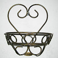 Настенная подставка для цветов кованая Сердце 1