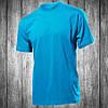 Футболка мужская голубая с круглым вырезом Stedman - 00757