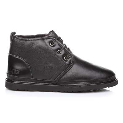 Чоловічі уггі Ugg Naumel Boots Black Leather (Чоловічі шкіряні черевики Уггі чорного кольору)