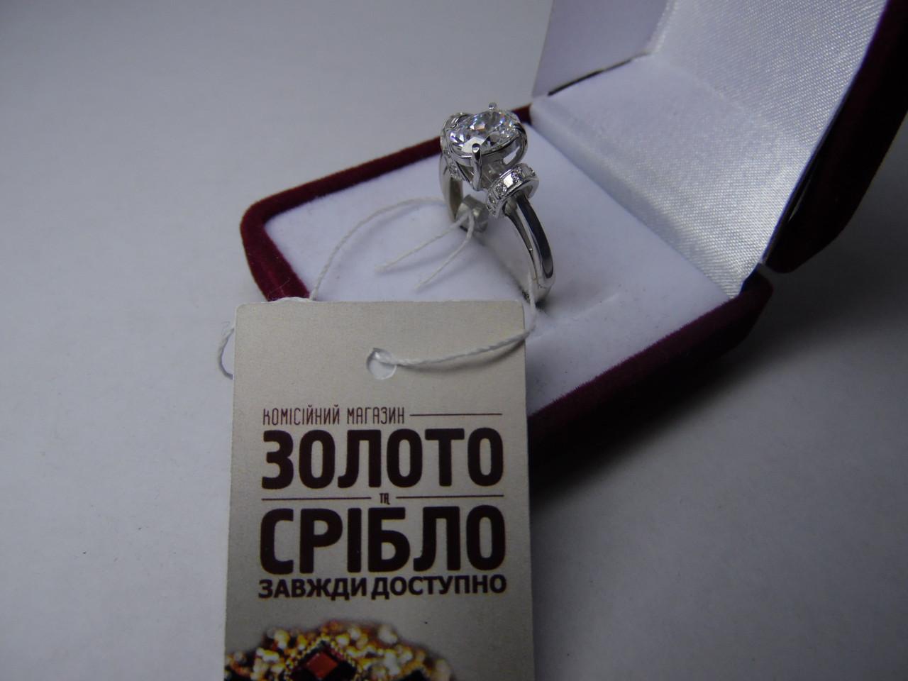 Женское кольцо с белого золота с цирконом 585 пробы. Размер 17,3 -  Комісійний 298d1de4e2d