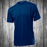 Футболка мужская синяя с круглым вырезом Stedman - 00754