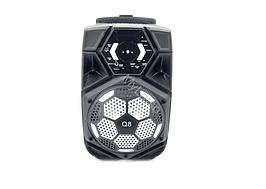 Портативная колонка Q8 Bluetooth AUX FM USB на колесах с ручкой акустика переносная
