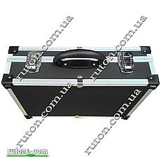 Ящик, кейс, дипломат для косметики, мелочей, инструментов алюминиевый 425*285*120 мм, фото 3