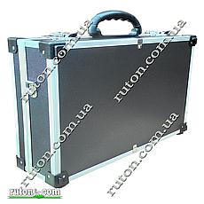 Ящик, кейс, дипломат для косметики, мелочей, инструментов алюминиевый 425*285*120 мм, фото 2