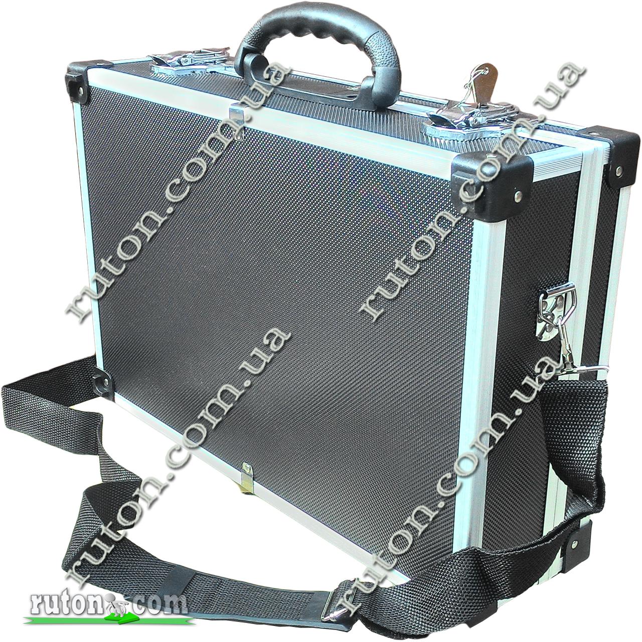 Ящик, кейс, дипломат для косметики, мелочей, инструментов алюминиевый 425*285*120 мм
