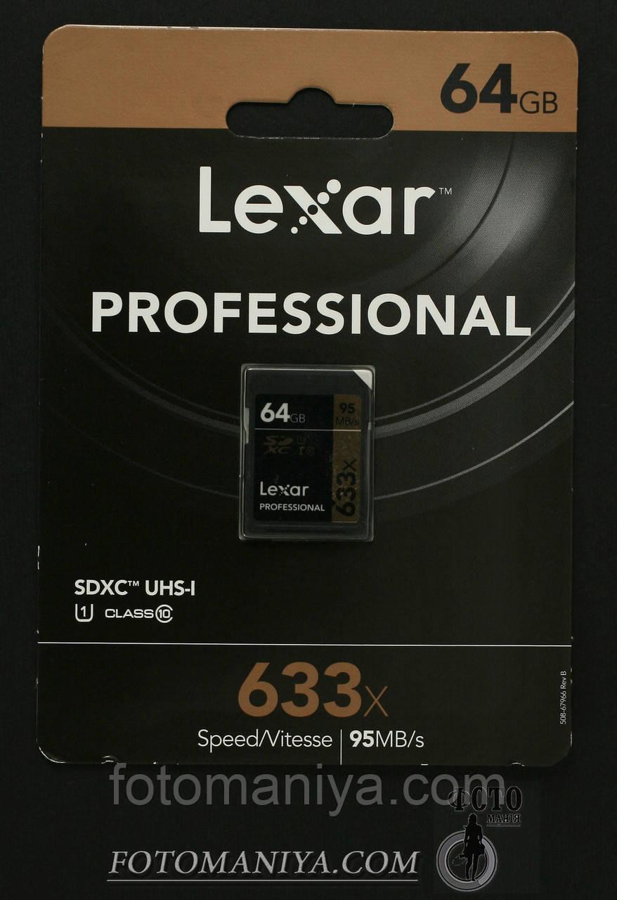 Lexar 64GB Professional 633x SDHC Class 10 UHS-I/U1 Memory