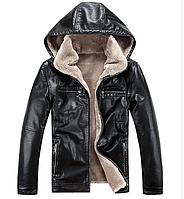 Зимова чоловіча шкіряна куртка.( 01139 ), фото 1