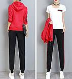 РІЗНІ кольори Gucci original Жіночий спортивний костюм + футболка гуччі, фото 9