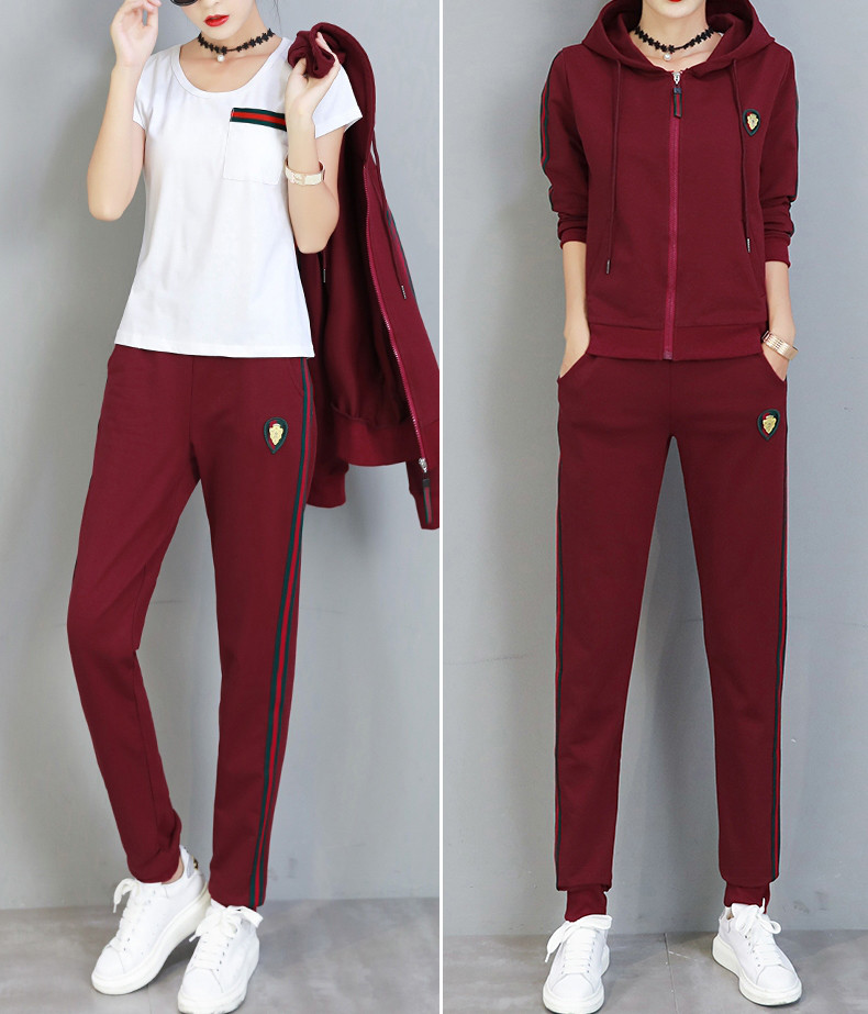 РАЗНЫЕ цвета Gucci original Женский спортивный костюм + футболка гуччи