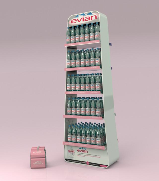 Торговые стойки Evian