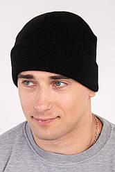 Мужская шапка ЮХ полный флис с отворотом