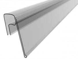 Ценникодержатели стеллажные, держатели для ценников на корзину или проволку KE 39 Прозрачный