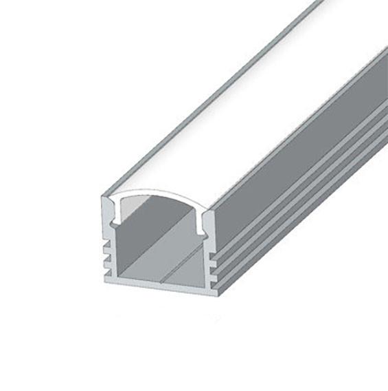 Комплект Biom профиль накладной LED ЛП12 анод + рассеиватель Прозрачный ЛП-12A+LC-U