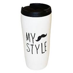 Чашка керамическая термокружка My Style 450мл