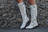 Сапоги лен натуральный на подкладке, на низком каблуке. Размеры: 36-42,  код 4169О, фото 3