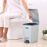 Відро відро 236817 різні кольори, пластик, з педаллю і кришкою мікроліфт, 5.5л, відро для сміття, відро для сміття, відра, відро з кришкою, для