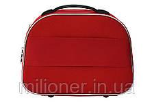 Сумка кейс саквояж Bonro Style (средний) красный, фото 2