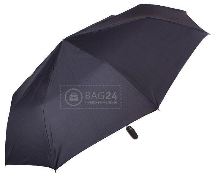 Черный мужской зонт, автомат ZEST Z13850, Черный