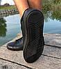 Кроссовки - кеды мужские черные Adidas нат. кожа реплика, фото 3