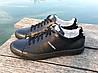 Кроссовки - кеды мужские черные Adidas нат. кожа реплика, фото 4