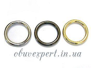 Кольцо сварное 25 мм, толщ. 4 мм Золото