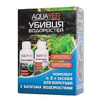 AQUAYER Убийца водорослей комплект из 2-х средств против водорослей в аквариуме 2х60мл