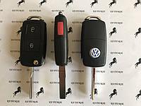 Корпус выкидного автоключа для VOLKSWAGEN (Фольксваген) 2 - кнопки + 1 кнопка, авто ключ Volkswagen