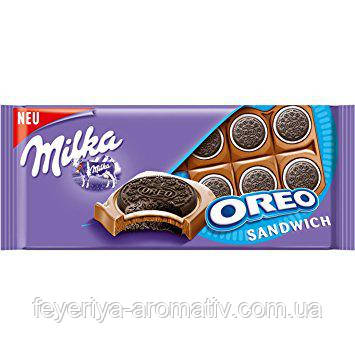 Молочный шоколад с печеньем орео Milka Oreo Sandwich, 92гр (Швейцария)